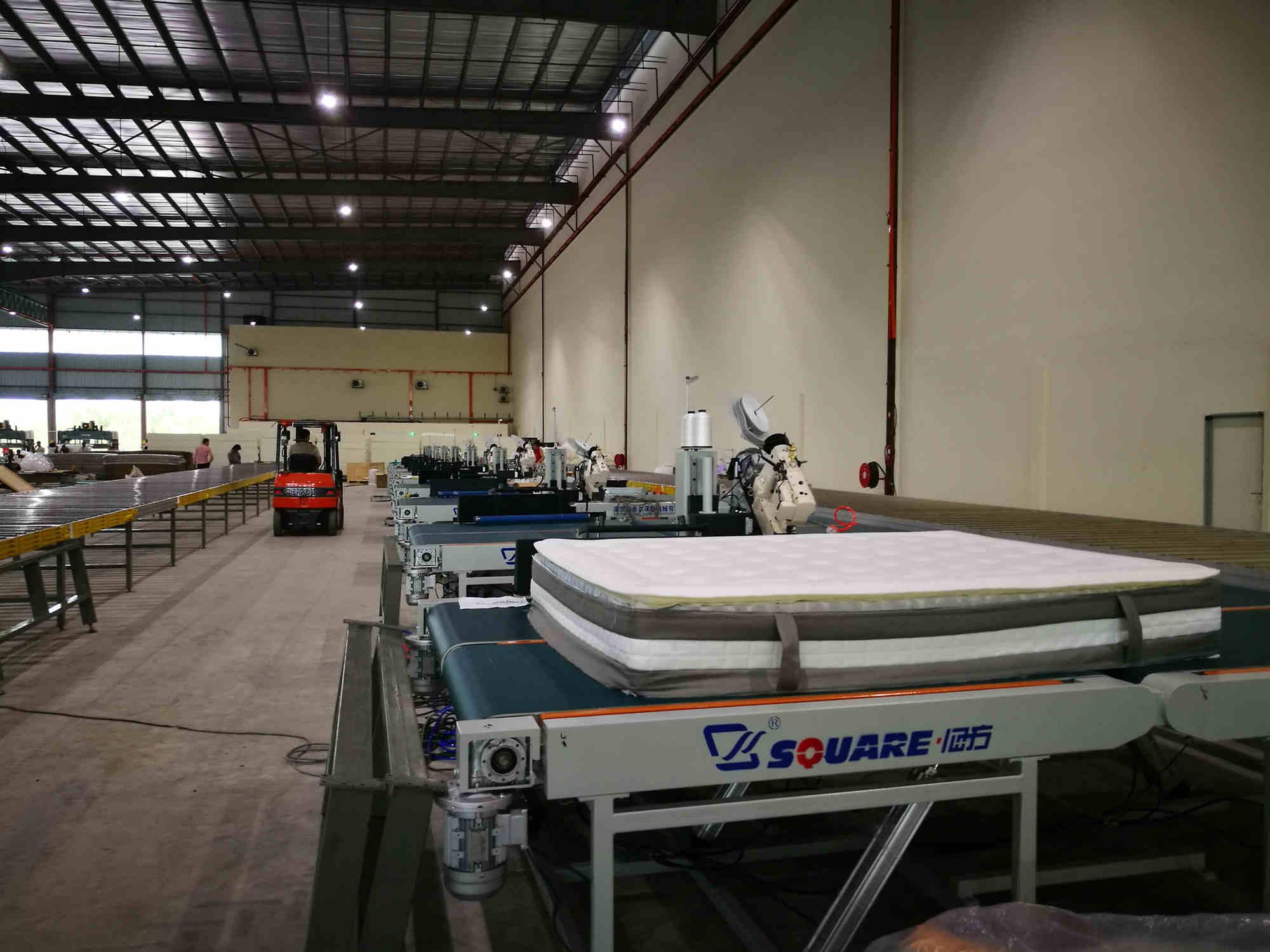 床垫生产流水线